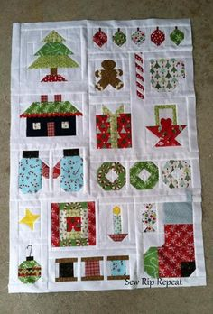 Looking for quilting project inspiration? Check out Quilty Little Christmas by Lori Holt by member Sew Rip Repeat. - via @Craftsy