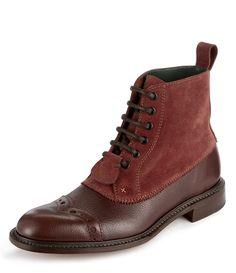Derby Boots Burgundy #MAN #AW1415
