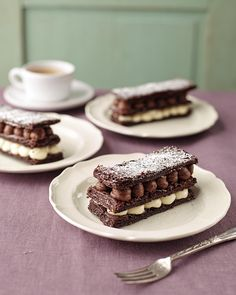 Inspired by The Great British Bake Off? Why not try this Chocolate Mille Feuille recipe! | appears in Deliciously Chocolatey by Victoria Glass, photography by Dan Jones