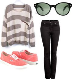 """""""Baggy Sweater"""" by upahgurl on Polyvore"""