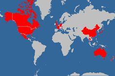 World Travel Map 2015   Damian Daily
