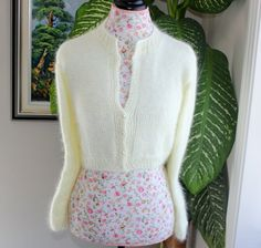 Ready to ship  HANDMADE Ivory/Cream Kate Middleton Angora by ufer, $200.00