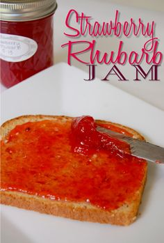 Made2Style: {Homemade Strawberry Rhubarb Jam  http://made2style.com/2013/05/30/strawberry-rhubarb-jam/