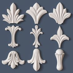 Discover thousands of images about architectural kit bash model obj 7 Metal Wall Decor, Metal Wall Art, Wood Art, Diy Furniture Appliques, Plaster Crafts, Wood Carving Designs, Stuck, Decorative Mouldings, Idee Diy