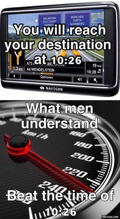 When man drives
