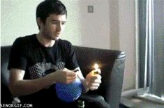When GF says you can't light a balloon on fire