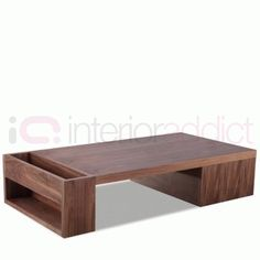 Walnut Contemporary Coffee Table | Designer Coffee Tables