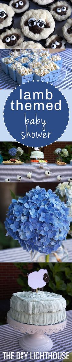 Lamb themed baby shower for a baby boy or baby girl! Cute themes idea for a baby shower | games, food, decorations, invitations, and more inspiration for throwing a DIY party.