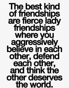 Fierce lady friendships