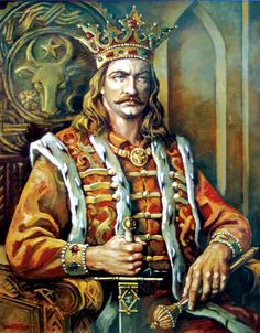 Stephen the Great – first cousin of Vlad Dracula, Moldavia's ruling prince for 47 years. Won 46 battles and lost 2 battles. Defended Moldavia against neighboring empires and won European fame for resistance against Ottomans. Vlad Der Pfähler, Vlad El Empalador, History Of Romania, Romania People, Vlad The Impaler, Count Dracula, Tsar Nicholas Ii, The Beautiful Country, Royals