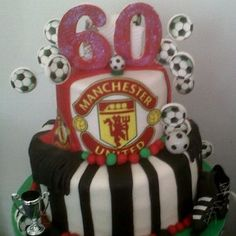 MANCHESTER UNITED SEXY 60TH BIRTHDAY CAKE