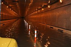 Queens Midtown Tunnel flooding during Sandy