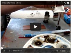 HowTo reproduce wood grain for scalemodels and diorama video tutorialhttp://www.plasticmodelsworld.com/node/992