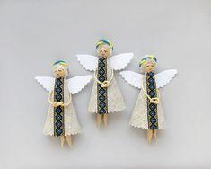 Christmas Ornaments, Ukrainian Christmas Angels, Folk Tree Decorations Set of 3 on Etsy, £11.55