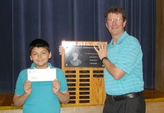 Toth Elementary School's annual Sue Boles Memorial Award recently was presented to Brayden Perez. Toth Elementary staff nominate students based upon: creativity, integrity and kindness. Brayden was chosen because of these outstanding qualities. He received a scholarship award and his name has been engraved on a plaque in the Toth lobby.