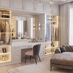 dream rooms for adults . dream rooms for women . dream rooms for couples . dream rooms for adults bedrooms . dream rooms for girls teenagers Wardrobe Room, Wardrobe Design Bedroom, Luxury Bedroom Design, Closet Bedroom, Home Interior Design, Luxury Interior, Master Closet Design, Walk In Closet Design, Interior Colors