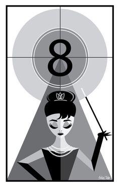 Audrey Hepburn illustration par LoveAshleyDesigns sur Etsy, $25.00