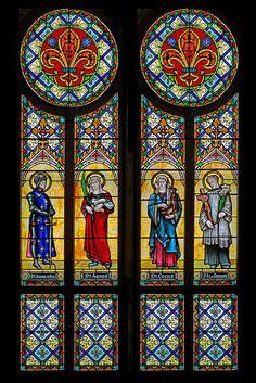 Sainte Jeanne dArc, Sainte Agnes, Sainte Cecile, Saint Louis de Gonzague | Flickr