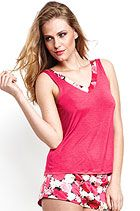 Lepel Justine Vest top and shorts in Passion Pink Nightwear, Basic Tank Top, Curvy, Vest, Passion, Lingerie, Bra, Shorts, Tank Tops