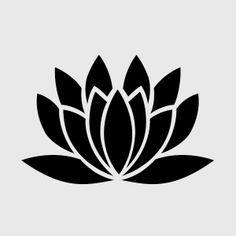 lotus stencil pattern free - Google Search