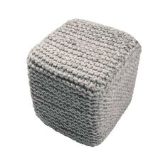 Sure, you can't fit a square peg in a round hole, but you can transform a rug into a pouf. This woven seat, with all the coziness of a knitted rug, makes the perfect alternative to a stiff chair.  Find the Square Peg Pouf, as seen in the Redefining Rustic Collection at http://dotandbo.com/collections/redefining-rustic?utm_source=pinterest&utm_medium=organic&db_sku=89353