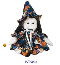 """Soft Cloth Doll Witch Pattern & Tutorial (PDF) """"Halloween Witch"""" and other ideas... Tutorial of 27 pages. Pattern is on a full size. Rossella Usai"""