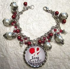 Lung Cancer Awareness Bracelet by ACharmedLife4 on Etsy, $7.50