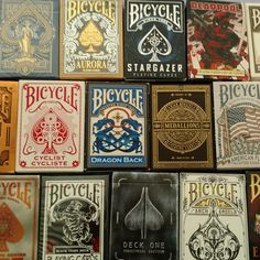 How many decks are in your collection? Shot from CPC member Thlomestar Prime! Bicycle Deck, Bicycle Cards, Sleight Of Hand, Buy Sell Trade, Black Tigers, Card Tricks, Magic Art, Deck Of Cards, Stargazing
