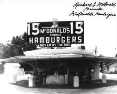 Il primo negozio di McDonald's, aperto dai fratelli Richard e Maurice McDonald in California nel 1937.