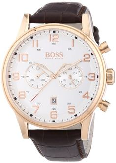 Hugo Boss Herren-Armbanduhr Analog Quarz Leder 1512921 Hu... http://amzn.to/2k3SKqA