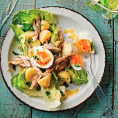 New potato, smoked mackerel and egg salad recipe. For the full recipe, click the picture or visit RedOnline.co.uk