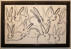 """When I'm rich I will own some of Hunt Slonem's Rabbits - """"Dutch Treat"""" by Hunt Slonem, from Madison Gallery"""