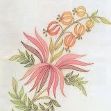 I have processed this pattern with these colors. Apply the colors to your taste … - Stickerei Ideen Cute Embroidery Patterns, Embroidery On Kurtis, Baby Embroidery, Flower Embroidery Designs, Embroidery Motifs, Beading Patterns, Parchment Design, Chain Stitch Embroidery, Handbag Patterns