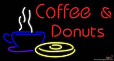 Red Coffee and Donuts Real Neon Glass Tube Neon Sign,Affordable and durable,Made in USA,if you want to get it ,please click the visit button or go to my website,you can get everything neon from us. based in CA USA, free shipping and 1 year warranty , 24/7 service