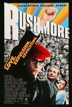 For Sale on - Original 1998 U. one sheet poster for the film Rushmore directed by Wes Anderson with Jason Schwartzman / Bill Murray / Olivia Williams / Seymour Cassel. Great Films, Good Movies, Excellent Movies, Wes Anderson Films, Wes Anderson Poster, Love Movie, Movie Tv, Good Vibes, Movie Posters