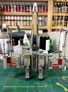 I was commissioned by a friend of mine to build four models to recreate the trench run from Star Wars; Vader, two TIEs, and Luke's Red I was excited abou. Gundam, Maquette Star Wars, Star Wars Painting, Star Wars Spaceships, Sf Movies, Star Wars Vehicles, Star Wars Models, Sci Fi Models, Modeling Techniques
