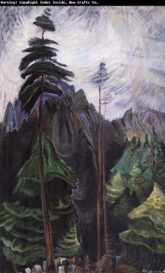 Emily Carr (1871-1945) was one of the first Canadian painters to adopt a post-impressionist painting style. Later in her life her imagery sh...
