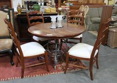 Ethan Allen Table & 4 Chair Set (16940-35) - Consignment Northwest