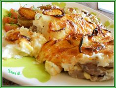 Výpečky na smažené cibuli, hrubozrnné hořčici a medu Pecan Pralines, No Salt Recipes, Lasagna, Mashed Potatoes, Cauliflower, Chicken, Vegetables, Cooking, Breakfast