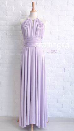Bridesmaid Dress Infinity Dress Lilac Floor Length Wrap Convertible Dress Wedding Dress on Etsy, $50.00