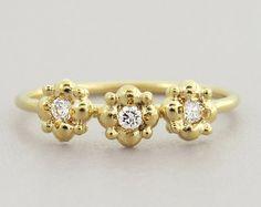 Diamond engagement ring Small Diamond Ring Rose Gold