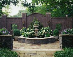 JEFF HERR PHOTOGRAPHY hydrangeas in a shady courtyard www.yournestdesign.blogspot.com