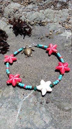 Starfish anklet by FireworksGandB on Etsy