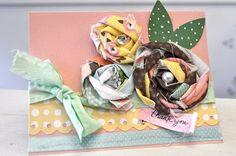 fabric paper rosette tutorial | Little Birdie Secrets