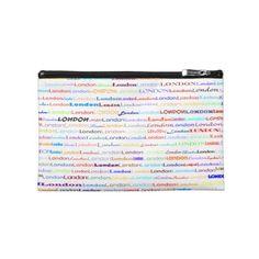 London Text Design II Travel Accessory Bag $41.95