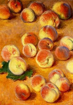 Peaches 1883 Claude Monet - Original Art by Artist Claude Monet, Monet Paintings, A Level Art, Famous Art, Aesthetic Art, Art Reproductions, Lovers Art, Amazing Art, Art Photography