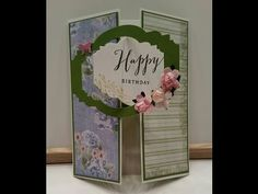 Gatefold Card with a Twist Fancy Fold Cards, Folded Cards, Card Making Tutorials, Square Card, Scrapbook Cards, Cardmaking, Website, Pop, Videos