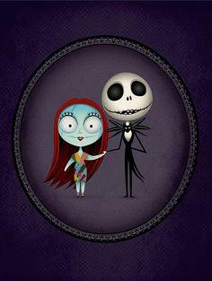 Jack and Sally - Nightmare Before Christmas