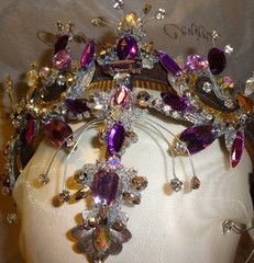 This headpiece is an astonishing complement to any Lilac Fairy tutu. Completely hand made with all sorts of lilac and purple Swarovski crystals, it is a must for the role of the Lilac Fairy. It can al