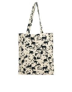 Image 1 ofMonki Almira Cats Tote Bag